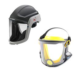 Atemschutzkopfteile Gesichtsschutz 3M Kopfteil e-breathe