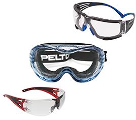 Körperschutz: Schutzbrillen, verschiedene Modelle