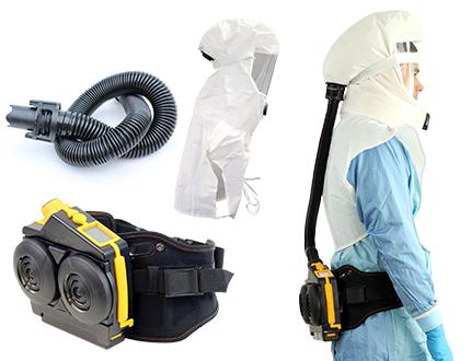 Infektionsschutz: Gebläsefiltergerät mit Haube
